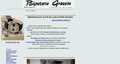 Preview of bijouteriegrassini.fr